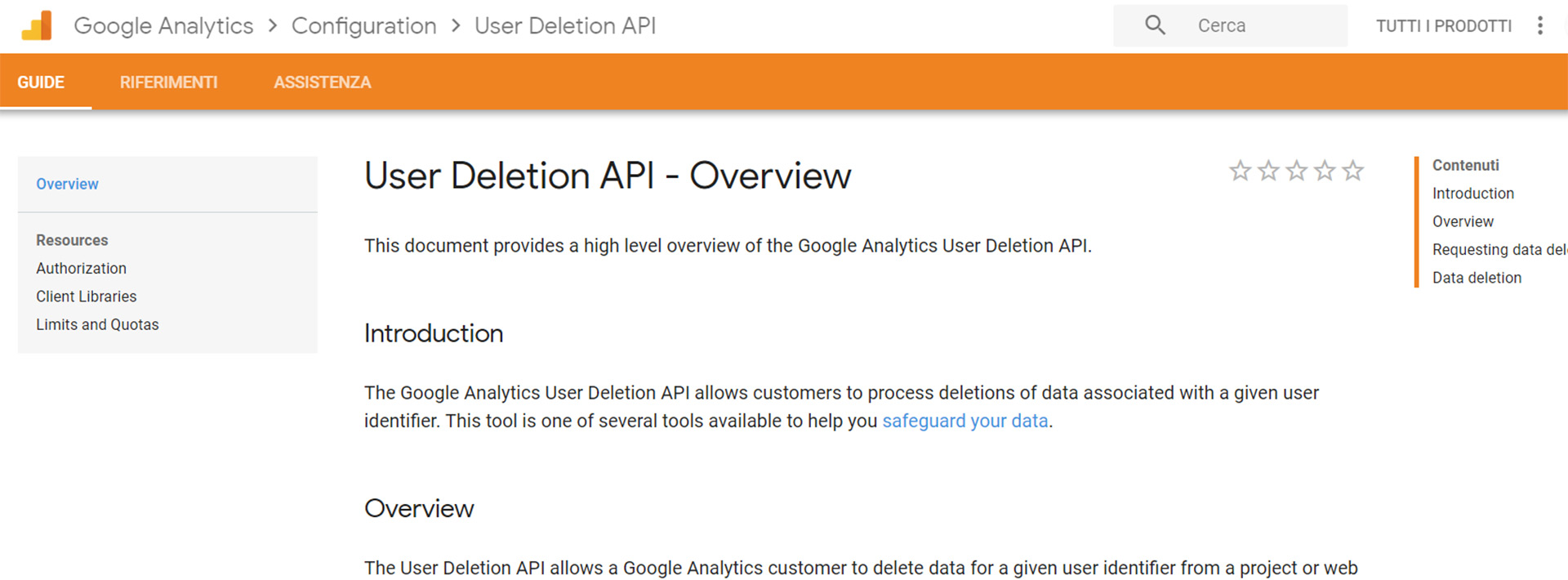 user deletion api